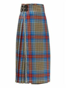 Charles Jeffrey Loverboy - Loverboy Pleated Wool Tartan Kilt Skirt - Womens - Beige Multi