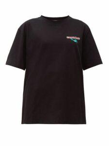 Charles Jeffrey Loverboy - Art Gallery Cotton T Shirt - Womens - Black
