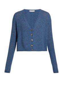 The Row - Abigael V Neck Cardigan - Womens - Light Blue