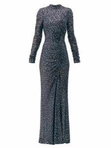 Jonathan Simkhai - Sequinned High Neck Gown - Womens - Navy