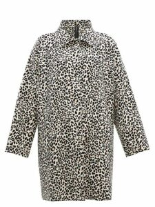 Norma Kamali - Leopard Print Single Breasted Coat - Womens - Leopard