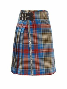 Charles Jeffrey Loverboy - Loverboy Tartan Wool Kilt Mini Skirt - Womens - Beige Multi