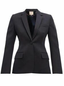 Roksanda - Lesia Tailored Wool Blazer - Womens - Navy