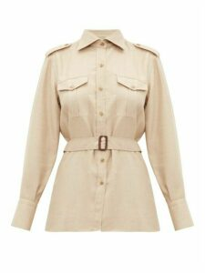 Giuliva Heritage Collection - The Aurora Belted Camel Hair-blend Shirt - Womens - Beige