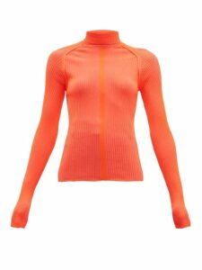 Acne Studios - Komina Fluorescent Roll Neck Rib Knit Top - Womens - Red