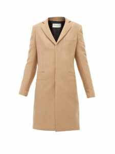 Saint Laurent - Single Breasted Camel Hair Coat - Womens - Camel