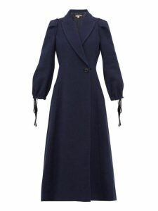 Brock Collection - Padova Balloon Sleeve Coat - Womens - Navy