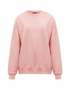 Acne Studios - Fairview Face Cotton Sweatshirt - Womens - Light Pink