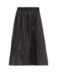 Tibi - Liquid Drape Midi Skirt - Womens - Black