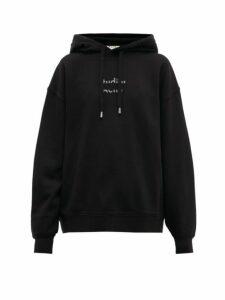 Acne Studios - Fyola Broken Logo Cotton Hooded Sweatshirt - Womens - Black