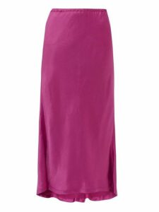 Sies Marjan - Xael Satin Bias Cut Midi Skirt - Womens - Pink