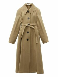 Lemaire - Oversized Point Collar Wool Coat - Womens - Camel