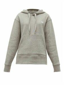 Acne Studios - Ferris Face Logo Patch Cotton Hooded Sweatshirt - Womens - Light Grey