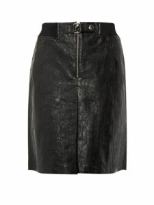 A.p.c. - Jenn A Line Leather Skirt - Womens - Navy