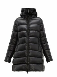 Moncler - Suyen A Line Quilted Down Coat - Womens - Black