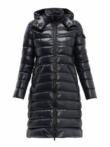 Moncler - Moka Hooded Quilted Down Coat - Womens - Navy