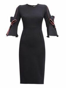 Roksanda - Lavete Piped Crepe Dress - Womens - Navy