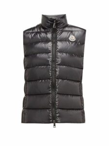 Moncler - Ghany High Neck Quilted Down Gilet - Womens - Black