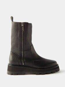 Loewe - Gathered Sleeve Single Breasted Wool Blazer - Womens - Grey Multi