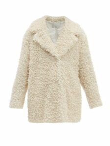 Tibi - Notch Lapel Faux Shearling Coat - Womens - Ivory