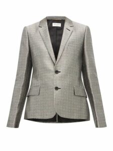 Saint Laurent - Single Breasted Blazer - Womens - Silver