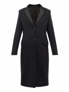 Officine Générale - Eden Virgin Wool Blend Overcoat - Womens - Navy