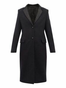 Officine Générale - Eden Virgin Wool Blend Overcoat - Womens - Navy