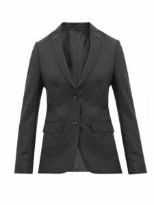 Officine Générale - Vanessa Single Breasted Wool Poplin Blazer - Womens - Grey