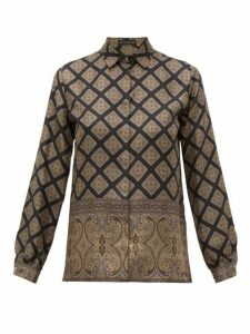 Etro - Paisley Print Silk Shirt - Womens - Black Multi