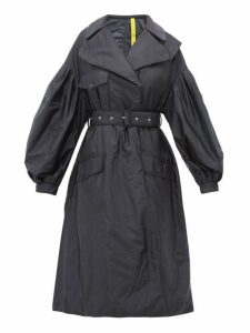 4 Moncler Simone Rocha - Dinah Balloon Sleeve Quilted Lining Coat - Womens - Navy