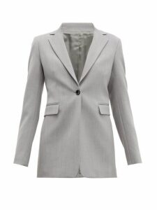 Joseph - Lorenzo Single Breasted Wool Twill Blazer - Womens - Grey