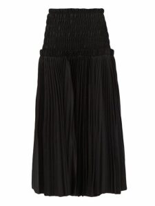 Khaite - Rosa Pleated Cotton Poplin Midi Skirt - Womens - Black
