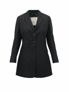 Giuliva Heritage Collection - Karen Tailored Virgin Wool Twill Blazer - Womens - Black
