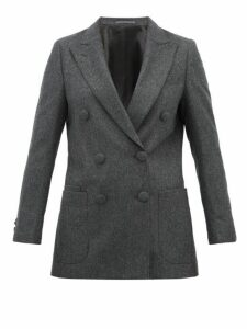 Officine Générale - Manon Double Breasted Wool Blazer - Womens - Grey