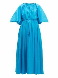 Roksanda - Medeya Bubble Sleeve Cotton Maxi Dress - Womens - Blue