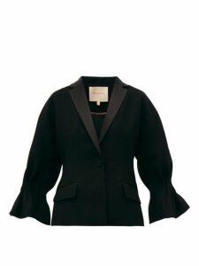 Roksanda - Lora Cady Single Breasted Crepe Blazer - Womens - Black