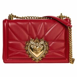 Dolce & Gabbana Leather Cross-body Messenger Shoulder Bag Devotion