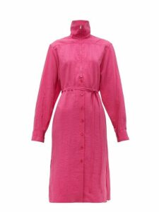 Lemaire - Zipped Silk Blend Dress - Womens - Pink