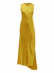 Ann Demeulemeester - Open Back Satin Dress - Womens - Yellow