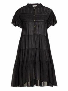 Isabel Marant Étoile - Lanikaye Tiered Cotton Voile Mini Dress - Womens - Black