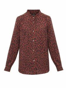 A.p.c. - Alice Leopard Print Voile Shirt - Womens - Leopard