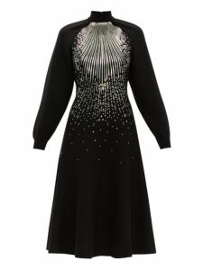 Givenchy - Sequin Embellished Wool Blend Midi Dress - Womens - Black Multi