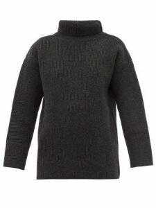 Jacquemus - Agde Roll Neck Wool Blend Sweater - Womens - Grey
