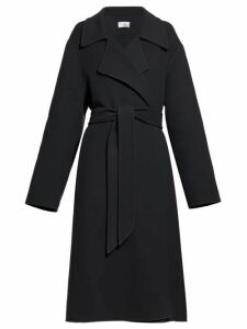 The Row - Efo Belted Cashmere Blend Felt Coat - Womens - Dark Grey