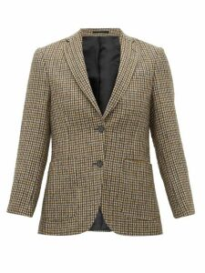 Officine Générale - Charlene Single Breasted Houndstooth Blazer - Womens - Beige