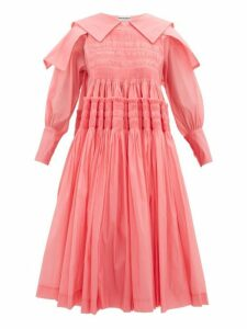 Molly Goddard - Bertha Smocked Organza Dress - Womens - Pink