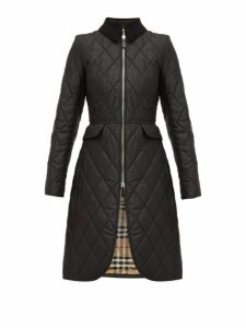 Burberry - Ongar Vintage Check Lined Quilted Coat - Womens - Black
