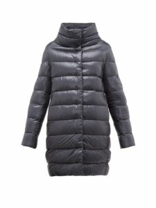 Herno - Dora Quilted Down Coat - Womens - Dark Blue