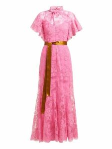Erdem - Celestina Floral Lace Gown - Womens - Pink