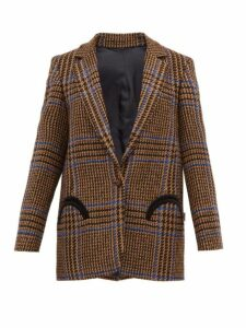 Blazé Milano - Cariba Single Breasted Wool Blend Tweed Blazer - Womens - Brown Multi